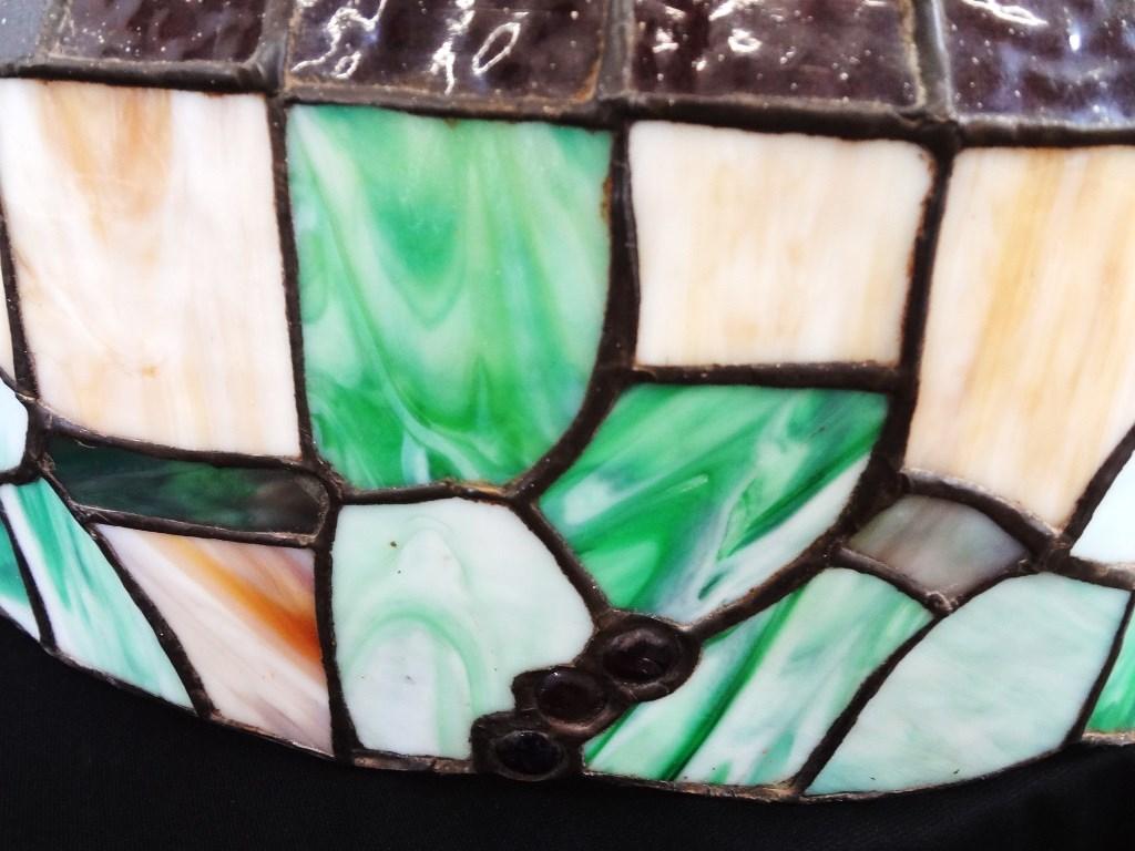 Lot detail large slag leaded glass lamp shade grape motif large slag leaded glass lamp shade grape motif aloadofball Gallery