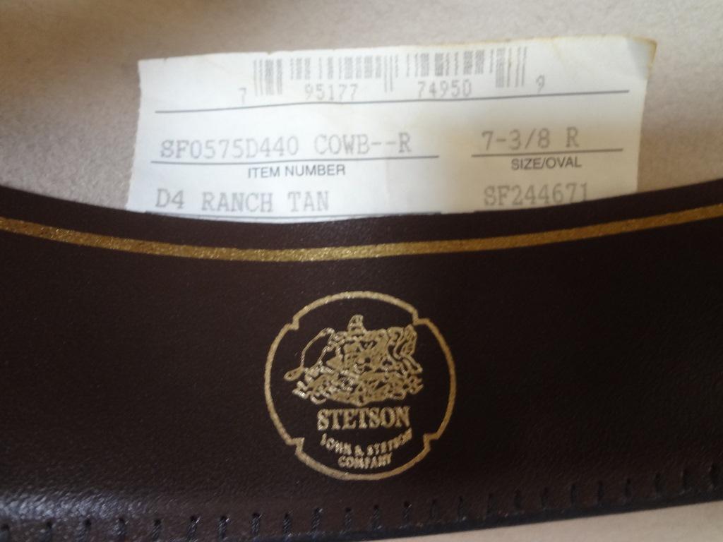 Lot Detail - Stetson Cowboy Hat D4 Ranch Tan Hat b0304b69cb9f