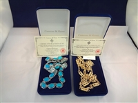 Jacqueline Bouvier Kennedy (2) Necklaces in Original Boxes