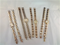 (4) Gruen Watch and Bracelet Matching Sets