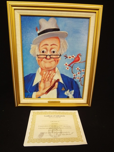 Red Skelton Signed Lithograph The Noble Clown 847/2500