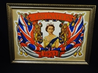 Queen Elizabeth II Coronation Poster Framed 1953
