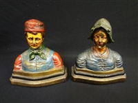 "Armor Bronze Company ""Dante and Beatrice"" Book Ends"