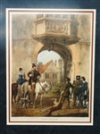 "Joseph Nash Lithotint ""Charlcote Warwickshire"" Matted and Framed"