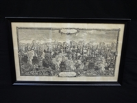 1658 Fold Out Engraving Dutch Naval Battle