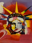 "Peter Max ""Liberty Head"" Signed Serigraph 292/350"