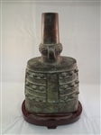 Shang Zhou Dynasty Temple Bronze Bell on Stand