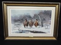 "Melvin Warren Artist Proof ""Cold Day in the North Bosque"" Signed Lithograph"