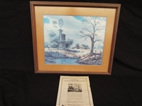 "John Carter Signed Lithograph ""Memories of Early Texas"" 728/800"