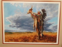 "Paul Calle Signed Lithograph ""Prayer to the Great Mystery"" Artist Proof"