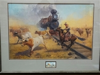 "Robert Pummell Artist Proof Signed Lithograph ""A Matter of Right of Way"""