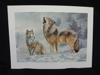 "Jorge Mayol ""Gray Wolves"" Signed Lithograph"