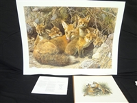 "Carl Brenders ""Full House: Fox Family"" Signed Lithograph"