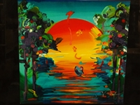 "Peter Max ""Better World III"" Retrospective Serigraph S/N"