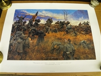 "Keith Rocco Signed Lithograph: Civil War Print ""We Have Got Them Started Come On"""