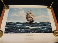 "Montague Dawson Signed Lithograph ""The Lahloo"""