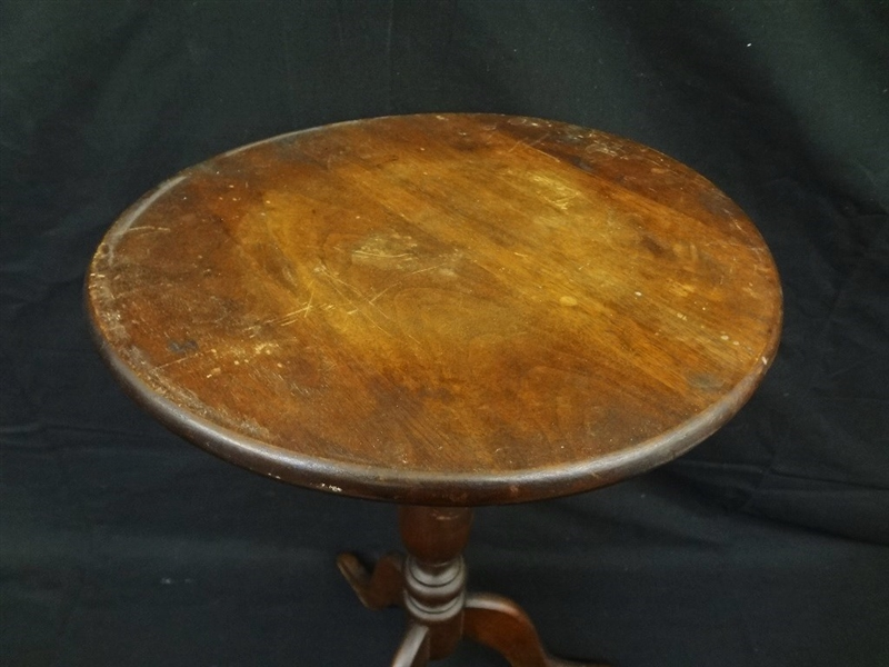 H. Willet 20th Century Walnut Candle Stand
