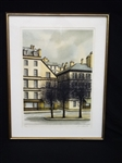 "Jacques Deperthes (French 1936) Signed Lithograph ""Place de la Contrescarpe"""