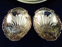 Reed and Barton Sterling Silver Fluted Dishes and Repousse Bowl