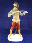 Herend Hungary Large Hadik Hussar Soldier Porcelain Figurine