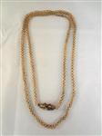 18k Gold Fancy 19th Century Necklace High Filigree Clasp Intertwining Chain