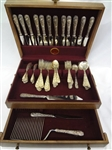Kirk and Son Sterling Silver Repousse 1924 Flatware Set Service for 12