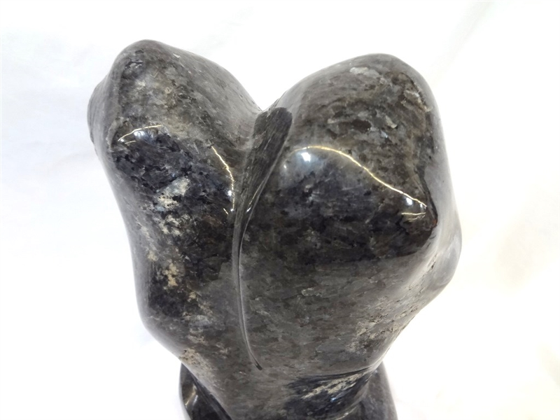 Modernist Abstract Black Granite Sculpture
