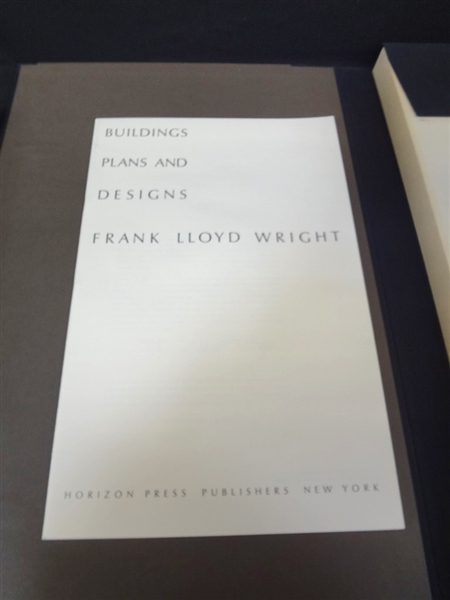 Frank Lloyd Wright Wasmuth Portfolio Horizon Press and Book Never Opened