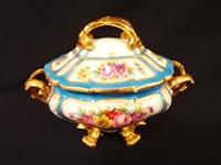 Sevres French Porcelain Four Footed Covered Gravy Tureen 1772