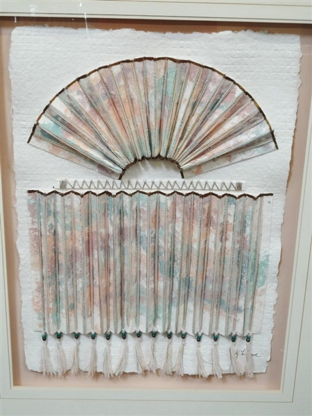 Elaine Rose Mixed Media Curtain Call Oversize 33.25 x 41.5
