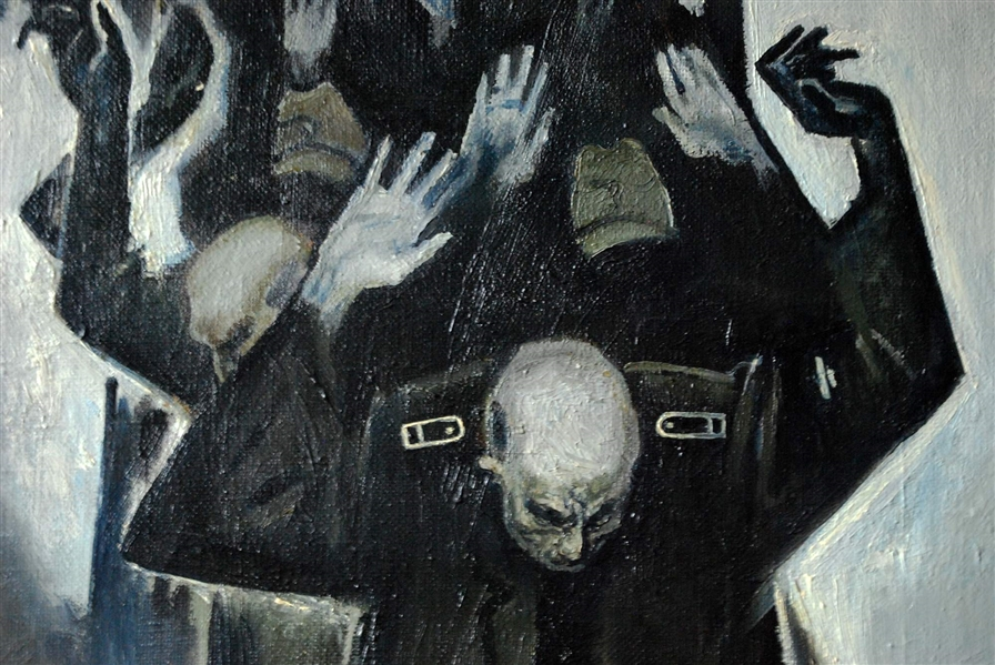 Vitally Grigoryev (Russian, b. 1957) Oil On Canvas POWs Surrender 1982