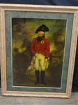 King George III Military Portrait by Sir William Beechley Engraving on Glass
