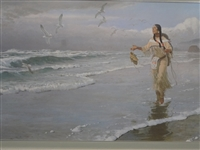 "John Clymer Signed Lithograph ""Sacajawea At the Big Water"""
