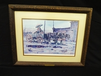 "James Boren Signed Lithograph ""Rainy Day at Hubbells Trading Post"""