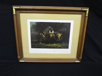 "Melvin Warren Signed Lithograph Personalized ""Night Riders"""