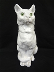 19th Century French Mud Cat Figurine