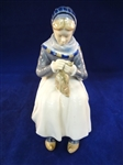 Royal Copenhagen Woman Knitting Figurine 1317