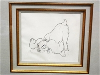 """Lady and The Tramp"" Original Pencil Sketch with COA Great American Ink"