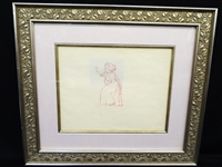 "Original Production Drawing Snow White and the Seven Dwarfs"" 1937 COA"