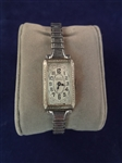 14k White Gold Gruens Ladies Watch 17 Jewels