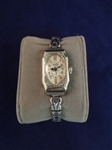 14k White Gold Gruens Ladies Watch 15 Jewels