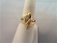 14k Gold Rope Knot Ring