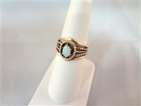 14k Gold Oval Opal Ring