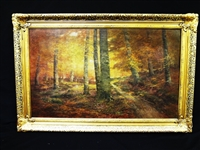 John Semon (1852 - 1917) Oil Painting: Forest Interior
