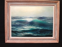 Guglielmo Welters (1913 - 2003) Oil on Canvas Seascape