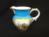 Sevres French porcelain Hand Painted Water Pitcher S&T 1771