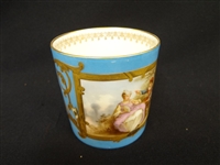 Sevres French Porcelain Handled Cup