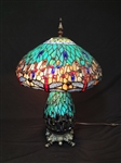 Dragonfly Stained Glass Lamp Shade and Base