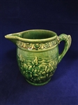 McCoy Fish Handle Water Pitcher Water Lily Pattern