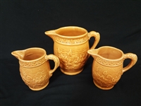 McCoy Pottery Water Lily Water Pitcher and 2 Goblets